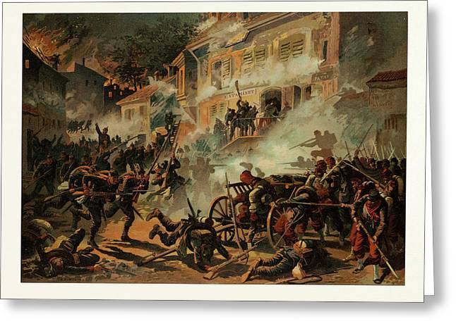 Storming Of Chateaudun On The 8th Of October Greeting Card
