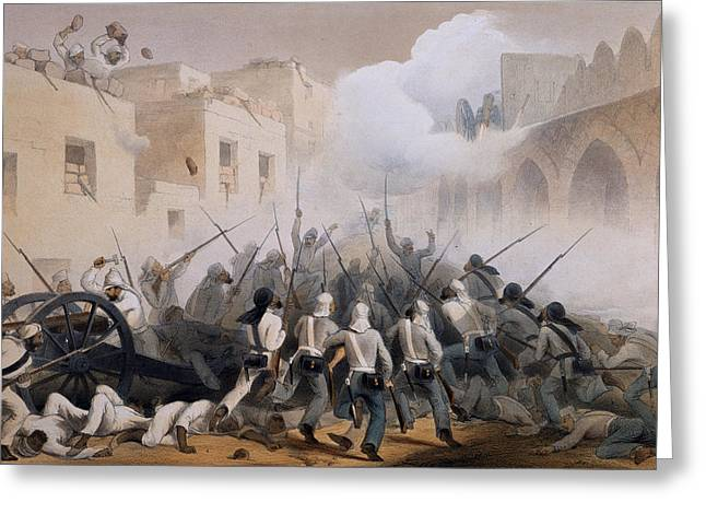 Storming Of Delhi 1857, From The Greeting Card