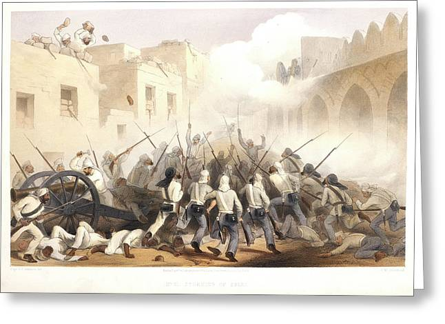 Storming Of Delhi Greeting Card by British Library