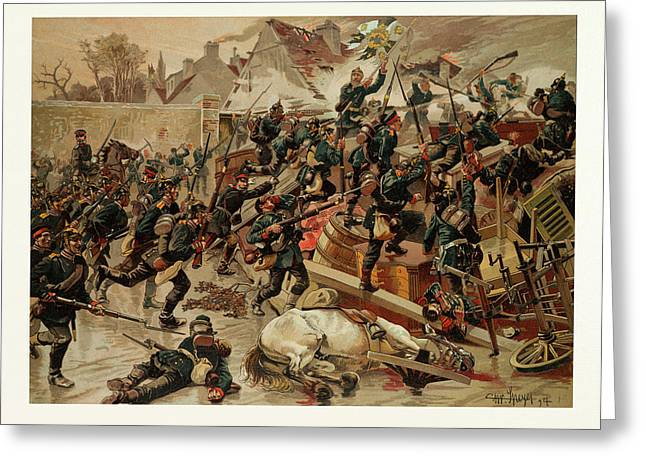 Storming Of The Great Barricade At The Entrance Of Le Greeting Card