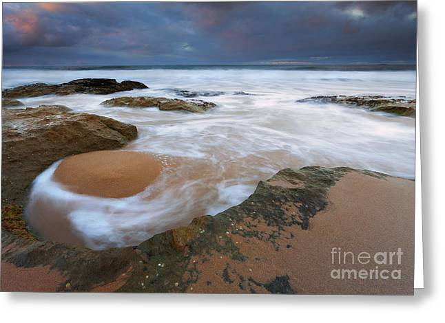 Stormrise Whirlpool Greeting Card by Mike Dawson