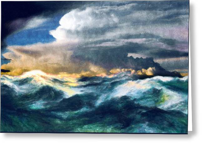 Storms And The Power Of Nature Greeting Card by Georgiana Romanovna