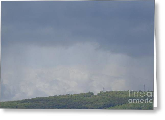 Greeting Card featuring the photograph Storm's Coming  by Christina Verdgeline