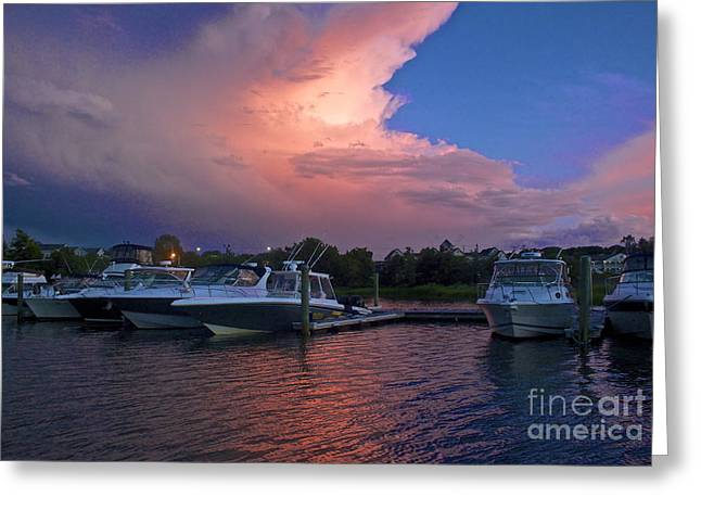 Storms Edge Greeting Card by Amazing Jules