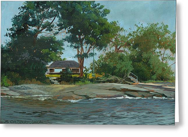 Storms End Huckleberry Island Greeting Card