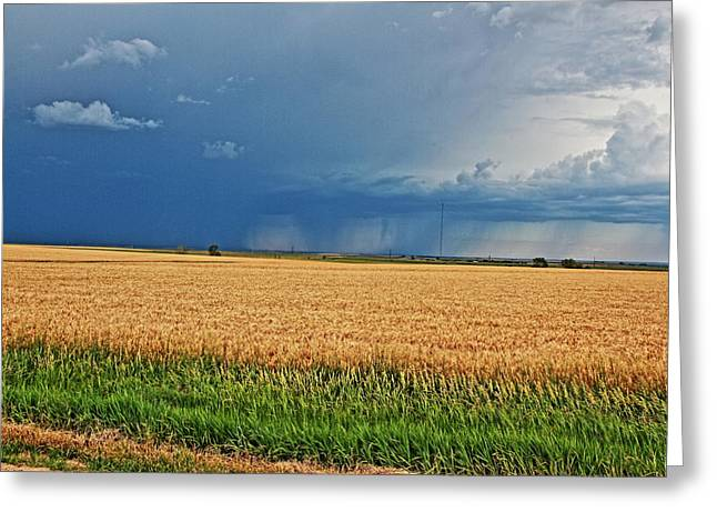 Storms On The Plains Greeting Card by Jason Drake