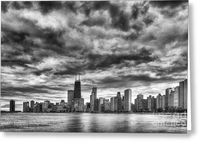 Storms Over Chicago Greeting Card