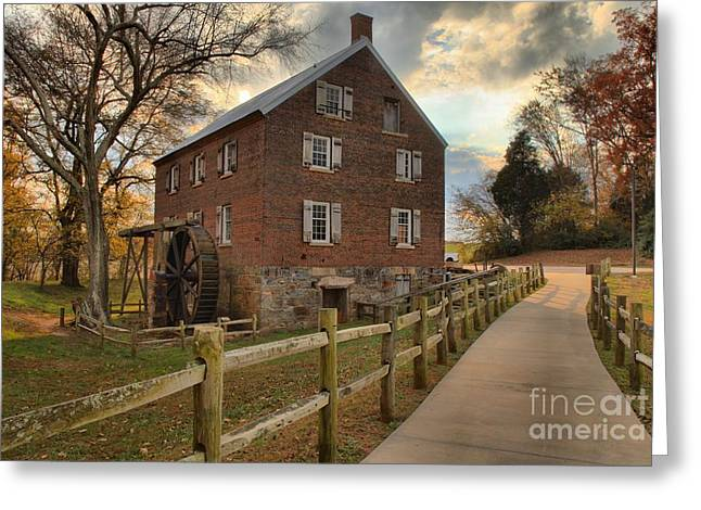 Storms Over Kerr Mill Greeting Card by Adam Jewell
