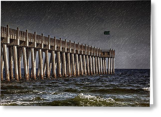 Stormscape Greeting Card by Sennie Pierson
