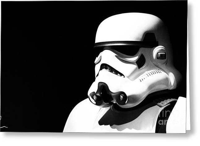 Stormtrooper Greeting Card by Chris Thomas