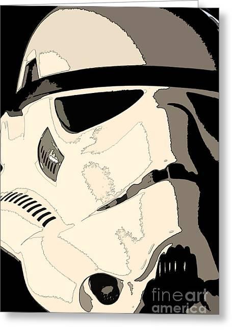 Stormtrooper Helmet 103 Greeting Card by Micah May