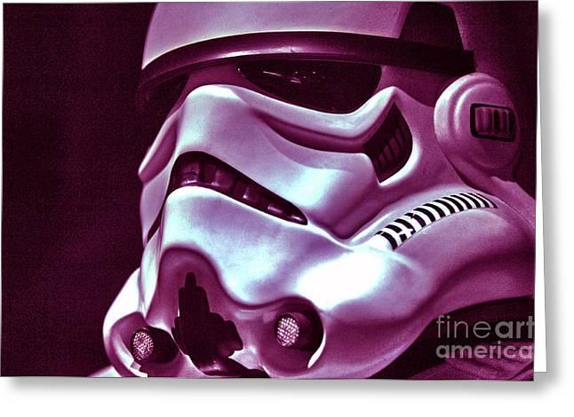 Stormtrooper Helmet 20 Greeting Card by Micah May