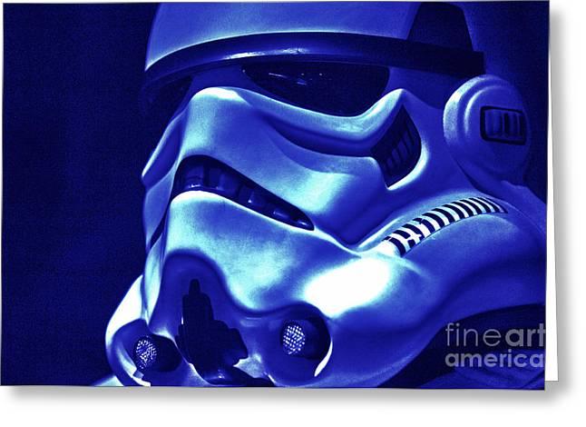 Stormtrooper Helmet 21 Greeting Card by Micah May