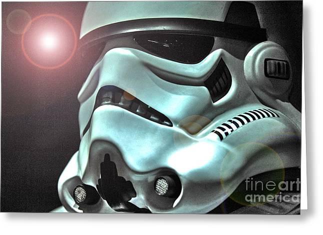 Stormtrooper Helmet 27 Greeting Card by Micah May