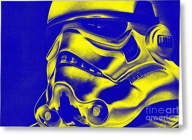 Stormtrooper Helmet 29 Greeting Card by Micah May