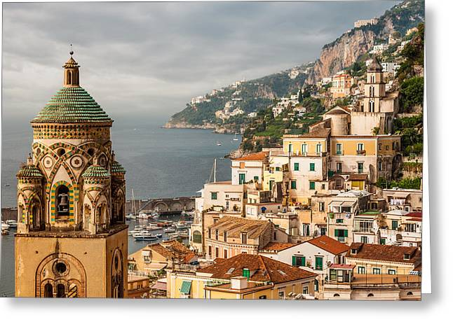 Stormy Amalfi Greeting Card by Gurgen Bakhshetsyan