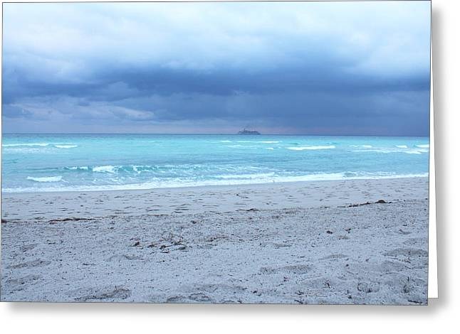 Stormy Beach Greeting Card by Gary Dunkel