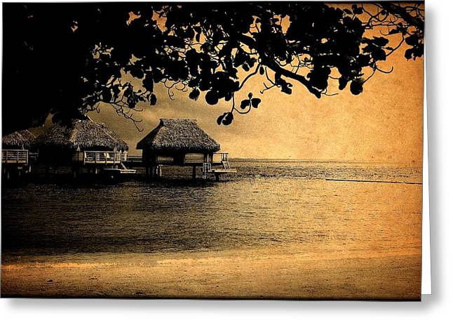 Stormy Bungalows Greeting Card
