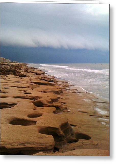 Stormy Coquina Greeting Card by Julie Wilcox