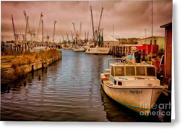 Stormy Day At Englehard - Outer Banks II Greeting Card by Dan Carmichael