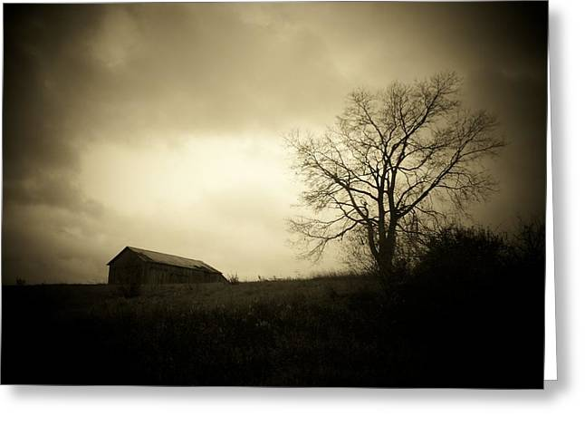 Stormy Day Greeting Card by Michael L Kimble