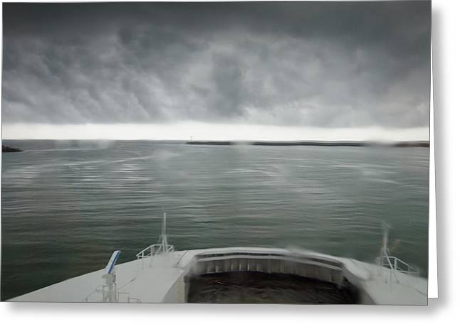 Stormy Departure Greeting Card