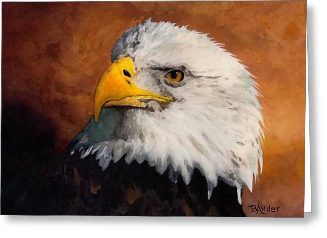 Stormy Eagle Greeting Card