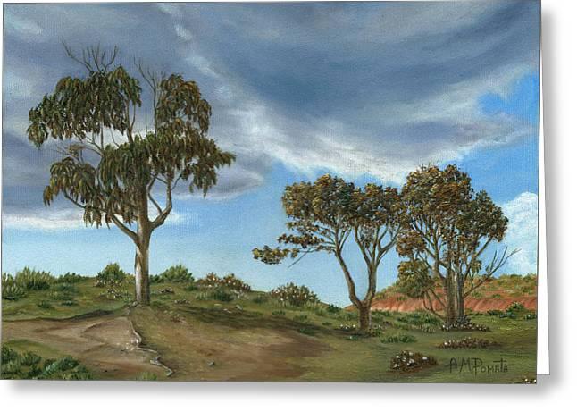 Stormy Eucalyptus Greeting Card