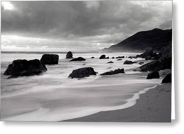 Stormy Garrapata Beach Big Sir Greeting Card by Dan Peak