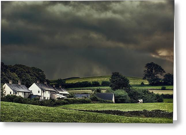 Stormy Hamlet Greeting Card by Amanda Elwell