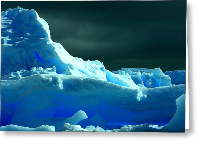 Greeting Card featuring the photograph Stormy Icebergs by Amanda Stadther