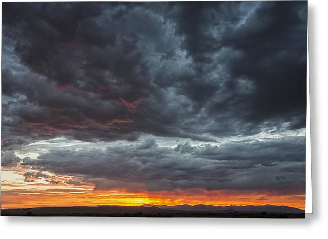 Stormy Jemez Mountains Sunset - Santa Fe New Mexico Greeting Card