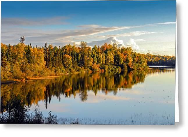 Stormy Lake Alaska In Autumn Greeting Card