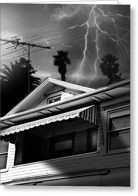 Stormy Monday Greeting Card by Larry Butterworth