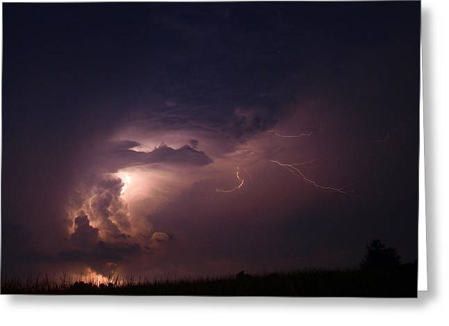 Stormy Monday Greeting Card by Tom Druin