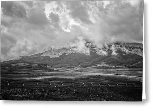 Stormy Mountains 2 Greeting Card by Thomas Young