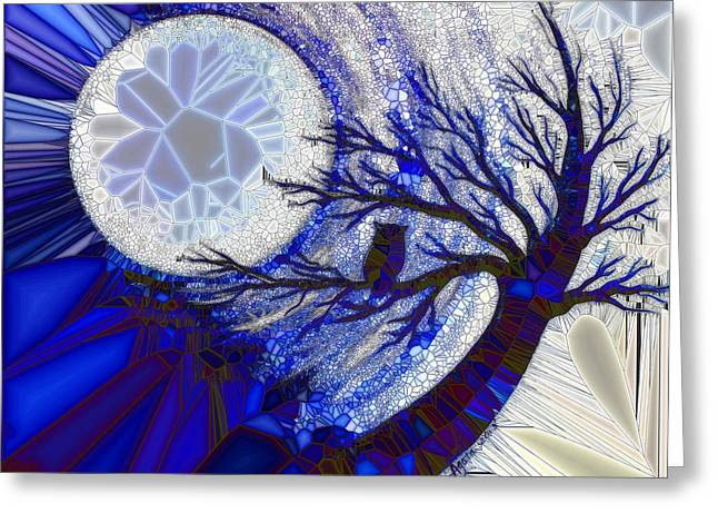 Stormy Night Owl Greeting Card