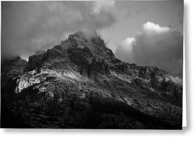 Stormy Peaks Greeting Card