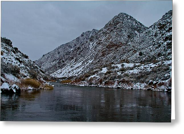 Greeting Card featuring the photograph Stormy River by Atom Crawford