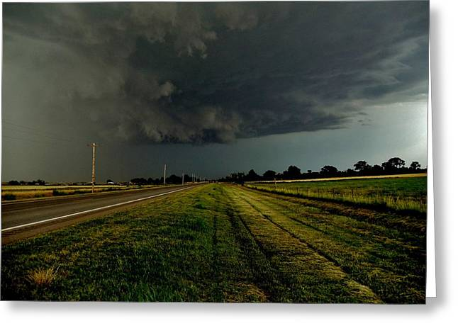 Stormy Road Ahead Greeting Card