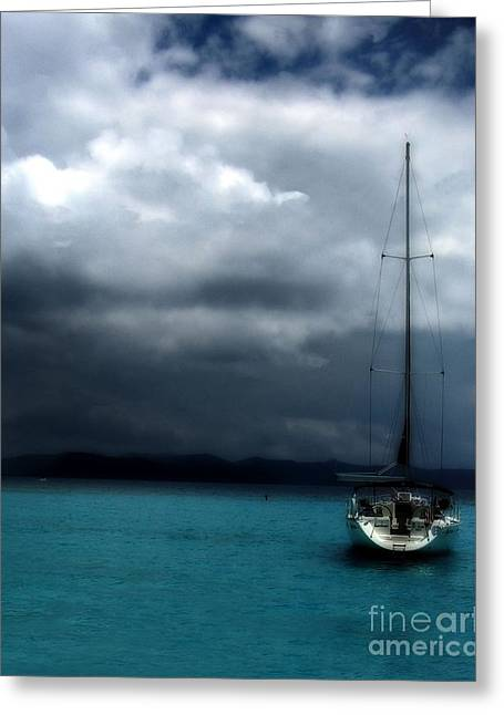 Stormy Sails Greeting Card by Heather Green