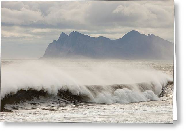 Stormy Sea Greeting Card by Ashley Cooper