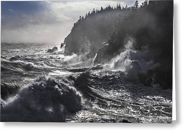 Stormy Seas At Gulliver's Hole Greeting Card by Marty Saccone