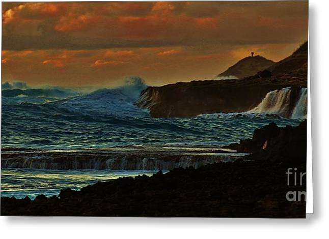 Stormy Seas Greeting Card by Craig Wood