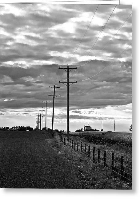 Stormy Skies Greeting Card by Lisa Knechtel