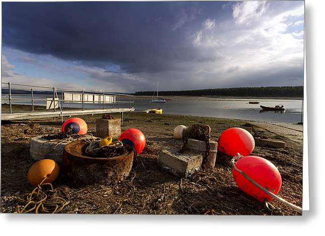 Stormy Skies Over Findhorn Bay Greeting Card by Karl Normington
