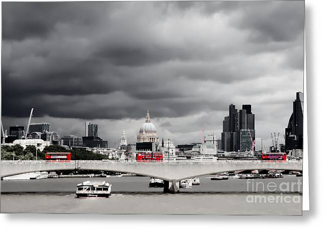 Greeting Card featuring the photograph Stormy Skies Over London by Jeremy Hayden