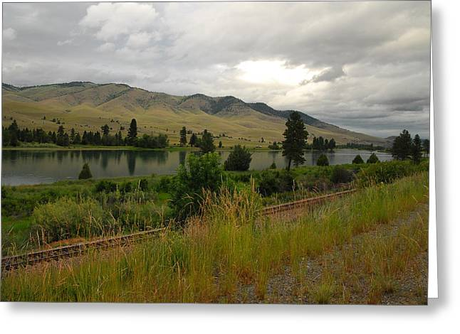 Stormy Skies Over Montana Greeting Card