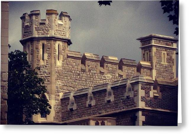 Stormy Skies Over The Tower Of London Greeting Card