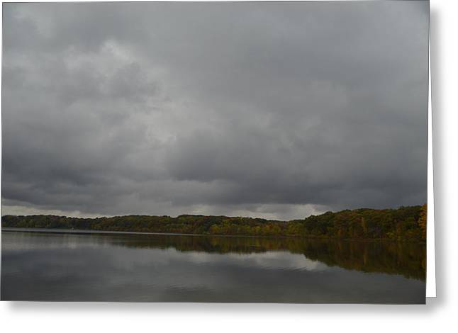 Stormy Sky In Autumn Greeting Card by Cim Paddock